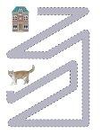 Дорожка для детей кошка и домик